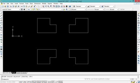 tutorial autocad commands mirror command tutorial in autocad