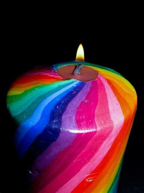 candlelight color rainbow candle colors pinterest