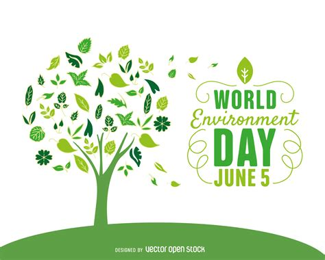 environment day world environment day tree vector