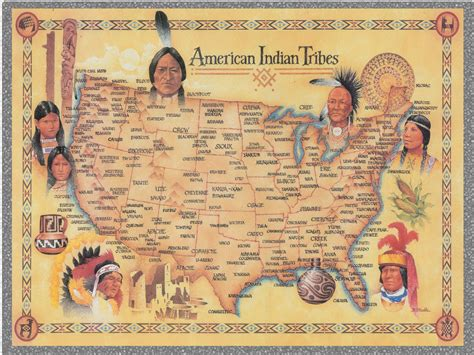 america map indian tribes american indians