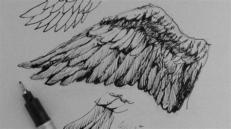 sketch pen pattern how to draw realistic angel wings www imgkid com the