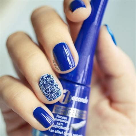 blue nail beds cute nails to show off your love for blue