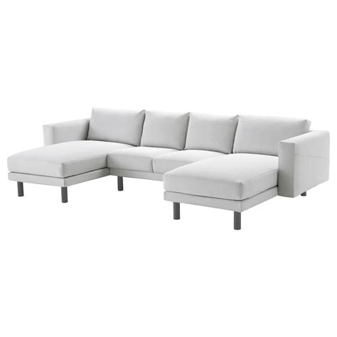 grey sofa with chaise norsborg 2 seat sofa with 2 chaise longues finnsta white