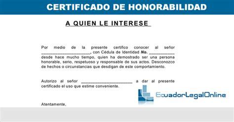 certificado de no haber sido dado de baja de la cte certificado de honorabilidad ecuadorlegalonline