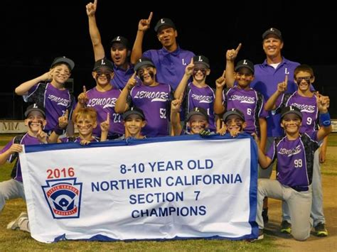 section 7 little league lemoore s 10 year old little league players on to nor cal