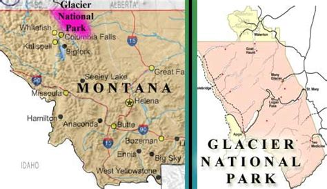 map of glacier national park glacier national park