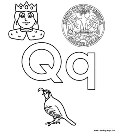 V Words Coloring Page by Q Words Alphabet S45b3 Coloring Pages Printable Q