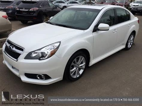 subaru legacy white 2013 pre owned white on black 2013 subaru legacy 4dr sdn auto