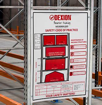 safe working load sign dexion