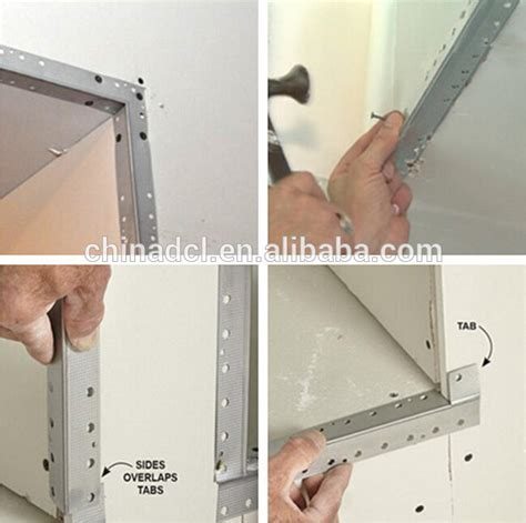drywall inside corner bead installation galvanized perforated corner bead aluminum metal angle