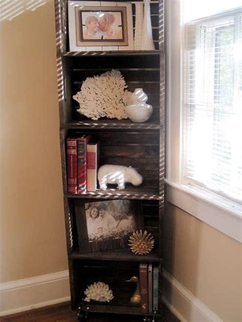 southern diy diary wood crate bookshelfhow  decor