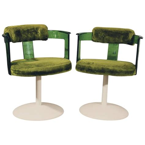 Daystrom Furniture by Green Lucite Mod Tulip Chairs By Daystrom Circa 1970