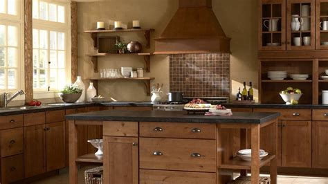 Wood Kitchen Design Captivating Wooden Kitchen Design With Brown Ceramic And Kitchen Backsplash Kitchen