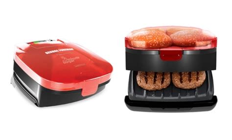 Toaster Burger new george foreman burger grill groupon goods