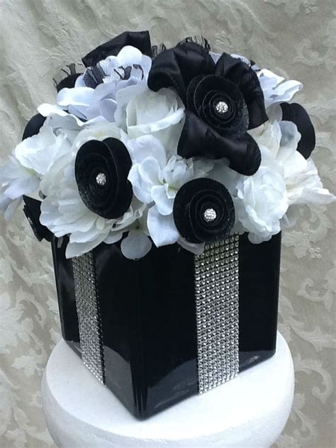 Handmade Silk Floral Bling And Lace Wedding Centerpiece by