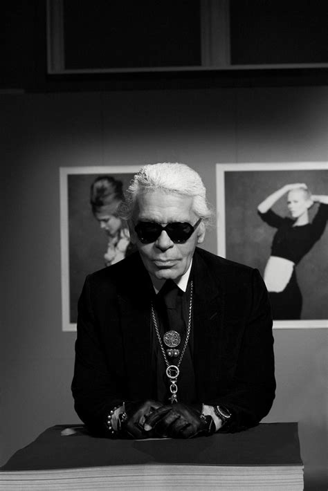"""Karl Lagerfeld: """"Inspiration is like a muscle you need to"""