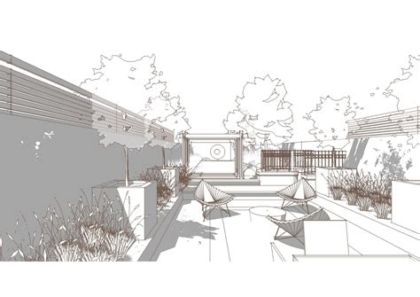 sketchup layout line color bowles and wyer garden perspective sketchup line render