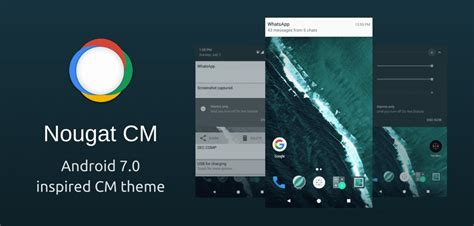 download theme android zip android 7 0 nougat inspired theme for cyanogenmod 12 1 or