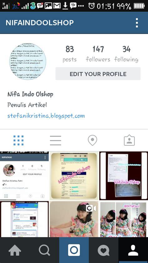 bio instagram untuk online shop manfaat instagram nifafani