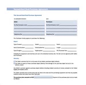 sample boat purchase agreement 6 free documents