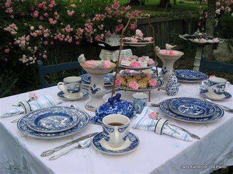 garden tea table setting set the table