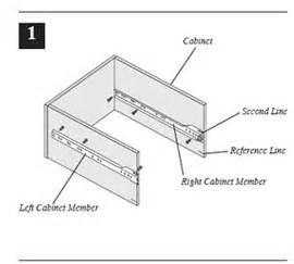 How To Install Kitchen Cabinet Drawer Slides European Drawer Slide Installation