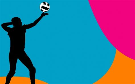 volleyball templates for powerpoint colorful volleyball ball backgrounds clipart panda