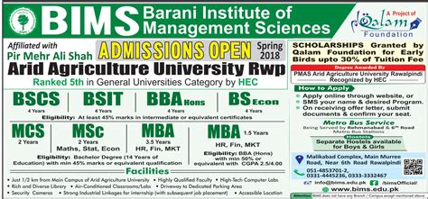 Mba Executive In Rawalpindi by Admission In Barani Institute Of Management Sciences 26