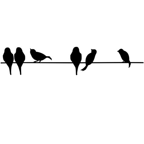 lime silhouette bird on wire silhouette cool eyecatching tatoos