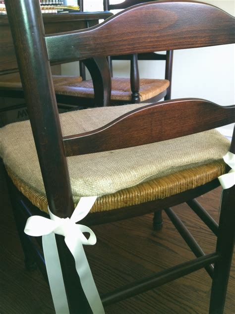burlap bench cushion burlap chair cushion for the home pinterest burlap