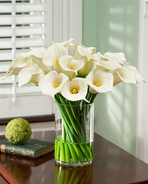 flower decor for home calla lily extravaganza silk arrangement at petals