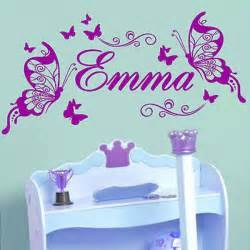 Custom Made Wall Stickers Uk personalised butterfly wall sticker custom made kids name