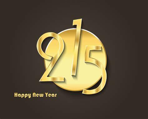 new year golden week 2015 golden creative 2015 new year vector material 05 vector