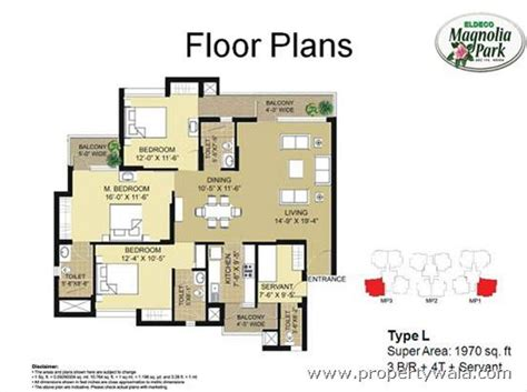 study room floor plan eldeco magnolia park sector 119 noida residential project propertywala