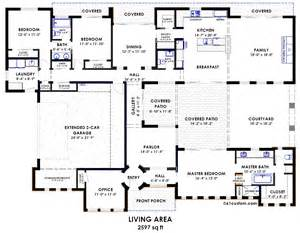 Courtyard Homes Floor Plans Contemporary Side Courtyard House Plan