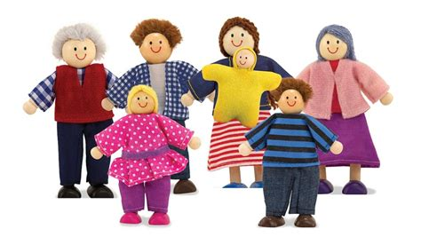 human doll family doug wooden doll family amazon co uk toys