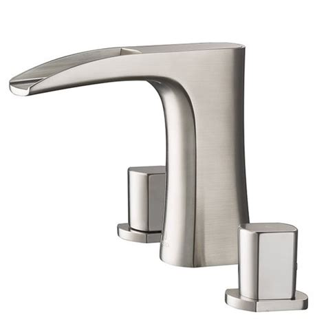 Fresca Faucets Reviews by Fresca Fortore Handle Widespread Waterfall Faucet