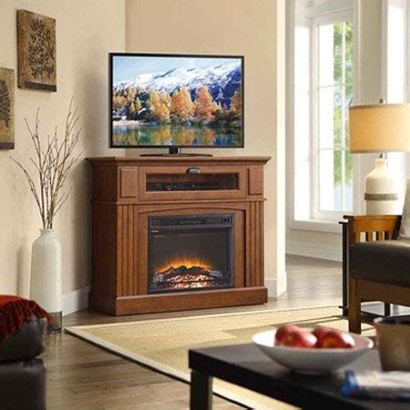 top  corner electric fireplace tv stands
