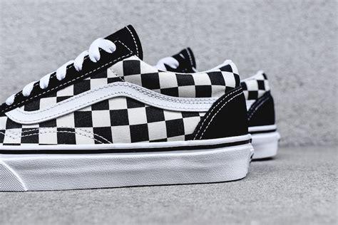 patterned vans old skool vans checkerboard pattern releases sneaker bar detroit