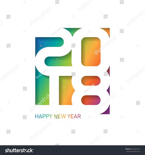 happy new year business card template happy new year 2018 vector greeting stock vector 703901614