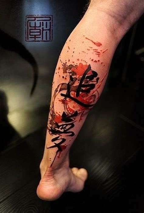 japanese watercolor tattoo designs 99 attractive leg designs for