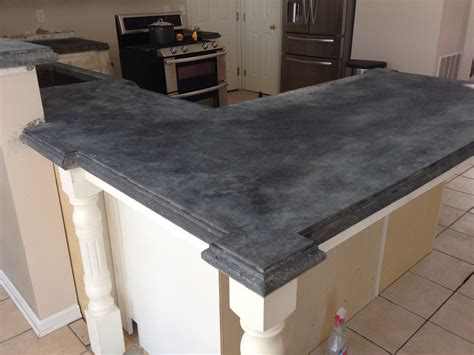 Concrete Countertop Color by Stained Concrete Countertops Black Find Out Stained