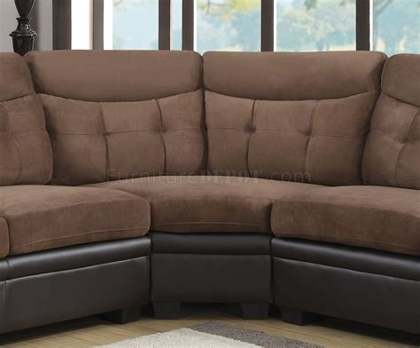 Sectional Sofa Brown U880015kd Sectional Sofa In Chocolate Brown By Global
