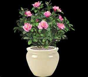 Outdoor artificial flowers azalea flower pink commercial silk