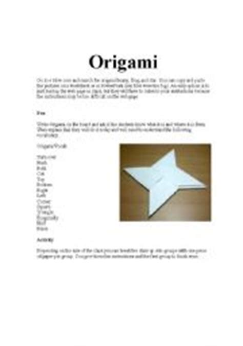 Origami Lessons - teaching worksheets origami