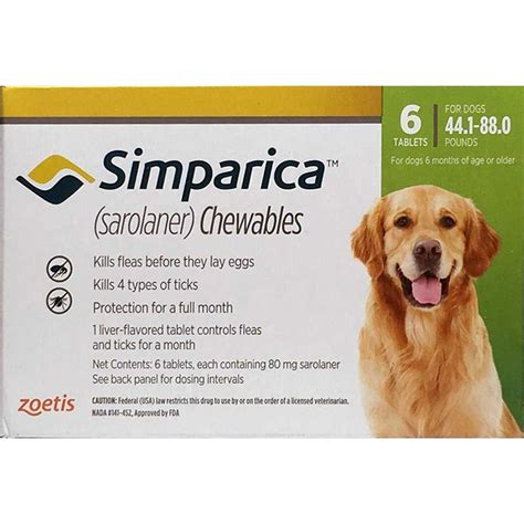 flea and tick pill for dogs order simparica flea and tick tabs 44 88 lbs green 6 mo for dogs