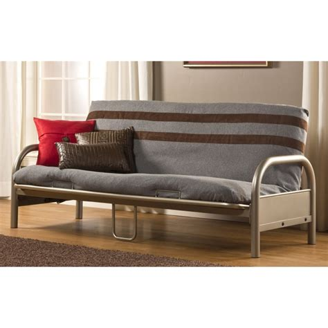futons with mattress included hillsdale geneva full futon frame in pewter 1455h