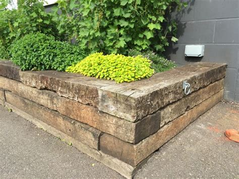 norfolk lavender railway sleeper raised beds