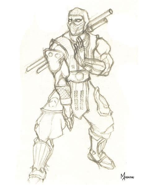 how to draw scorpion from mortal kombat x easy things to scorpion mortal kombat x drawing