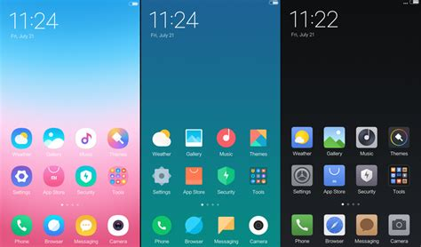 xiaomi official themes preview of miui 9 new official themes which one is your